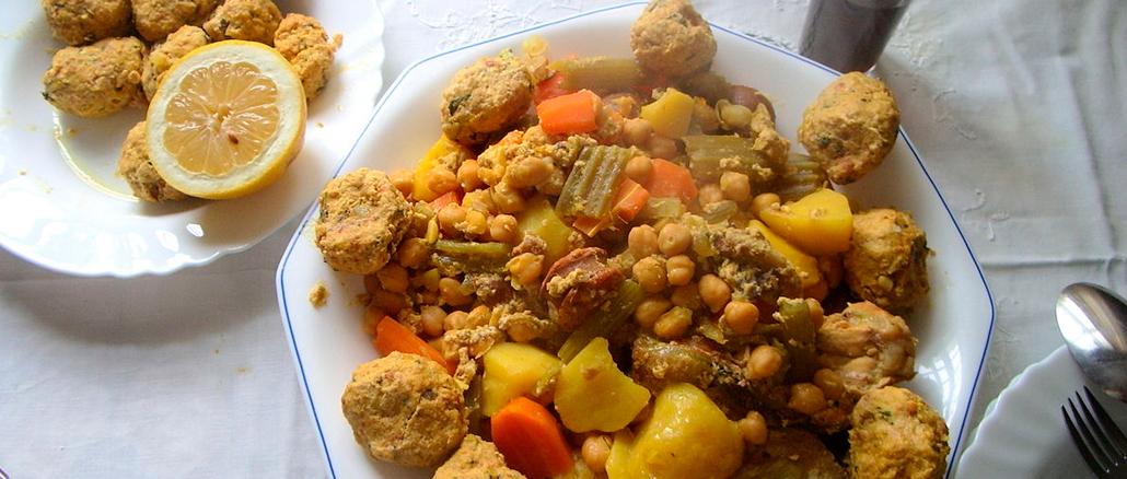 tradicional cocido con pelotas de Torrevieja y vega baja