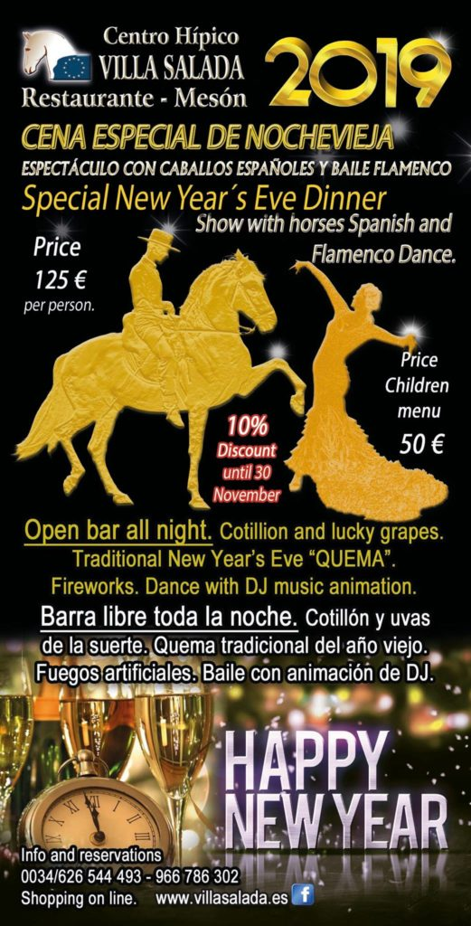 New year eve dinner 2018 in Torrevieja