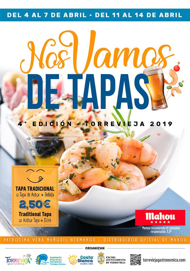 Mapa y Restaurantes Ruta de la Tapa Torrevieja Abril 2019