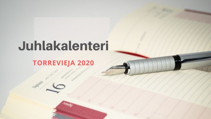 Torrevieja 2020 juhlakalenteri