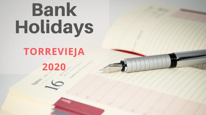 Torrevieja Bank Holidays Calendar 2020