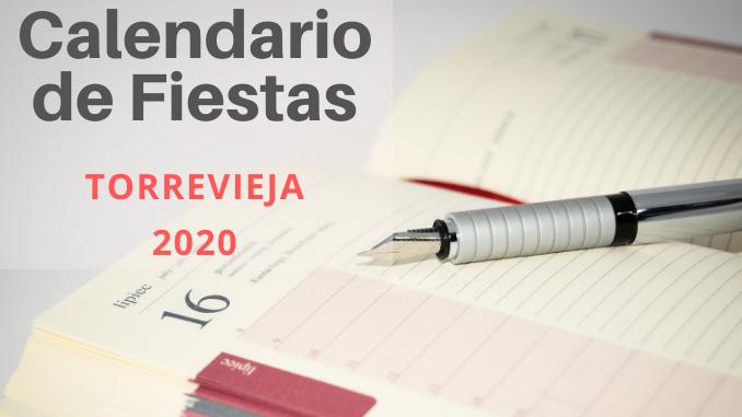 Calendario de fiestas Torrevieja 2020