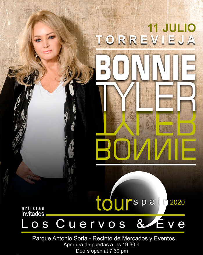 Tickets sale bonnie tyler concert in Torrevieja
