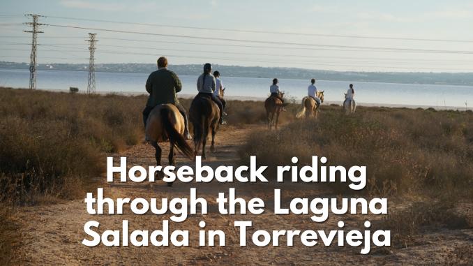 Horseback riding through the Salt lakes in Torrevieja