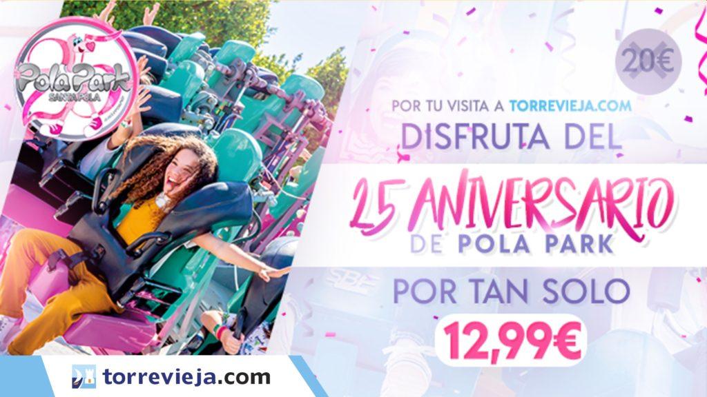 Parque de atracciones Pola Park Torreviejacom cupon descuento 25 aniversario