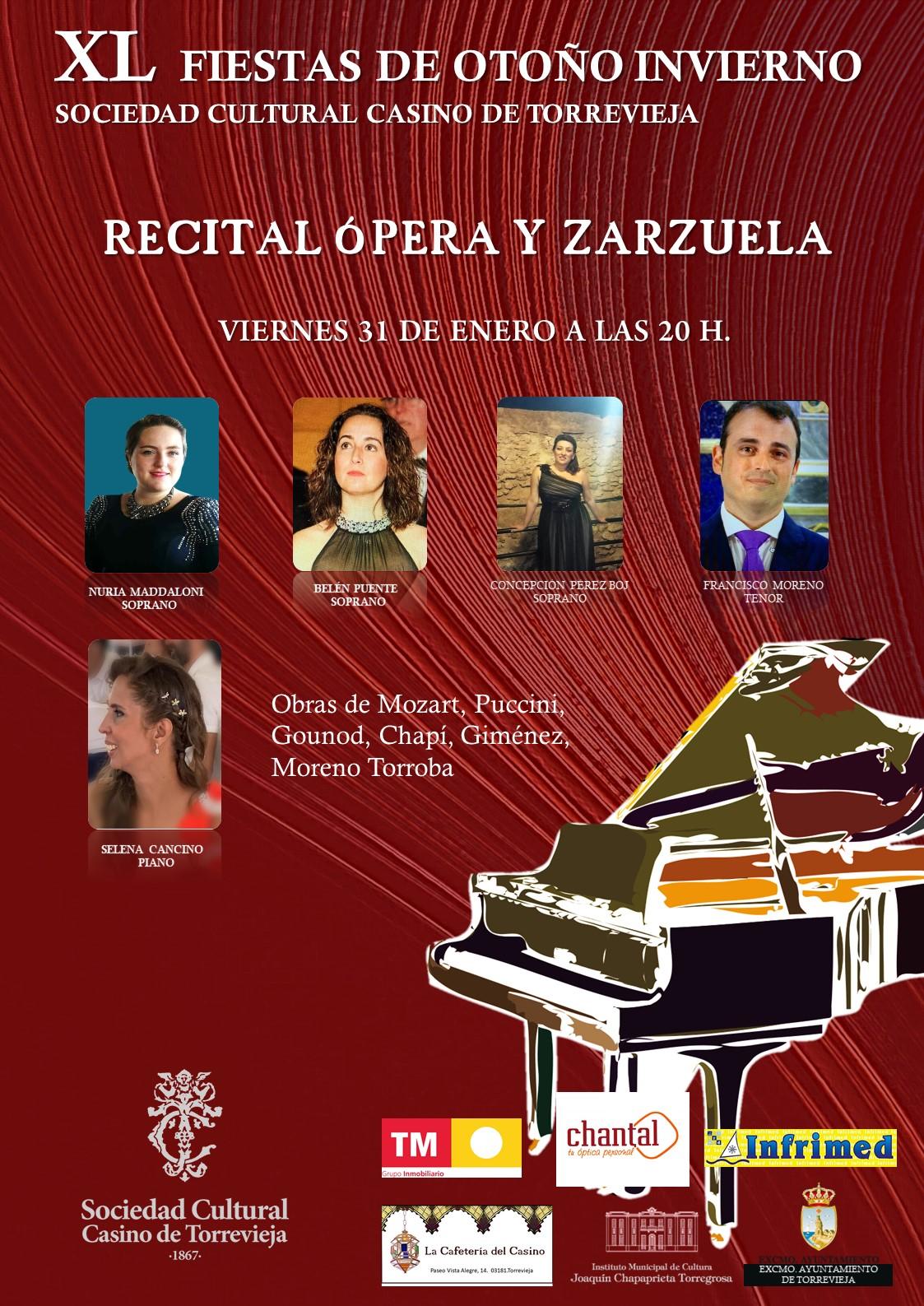 Recital de opera y zarzuela en el casino de torrevieja febrero 2020 2