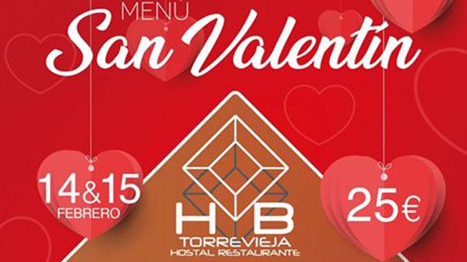 menu cena san valentin restaurante hostal hb torreviejacom 2020 2