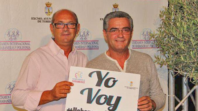 """Guillermo Hernández, Presidente de la Sociedad Musical """"Ciudad de Torrevieja, Los Salerosos"""" en el Certamen de Habaneras"""