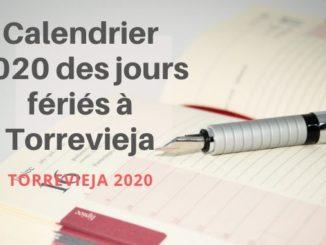 Calendrier 2020 des jours fériés à Torrevieja