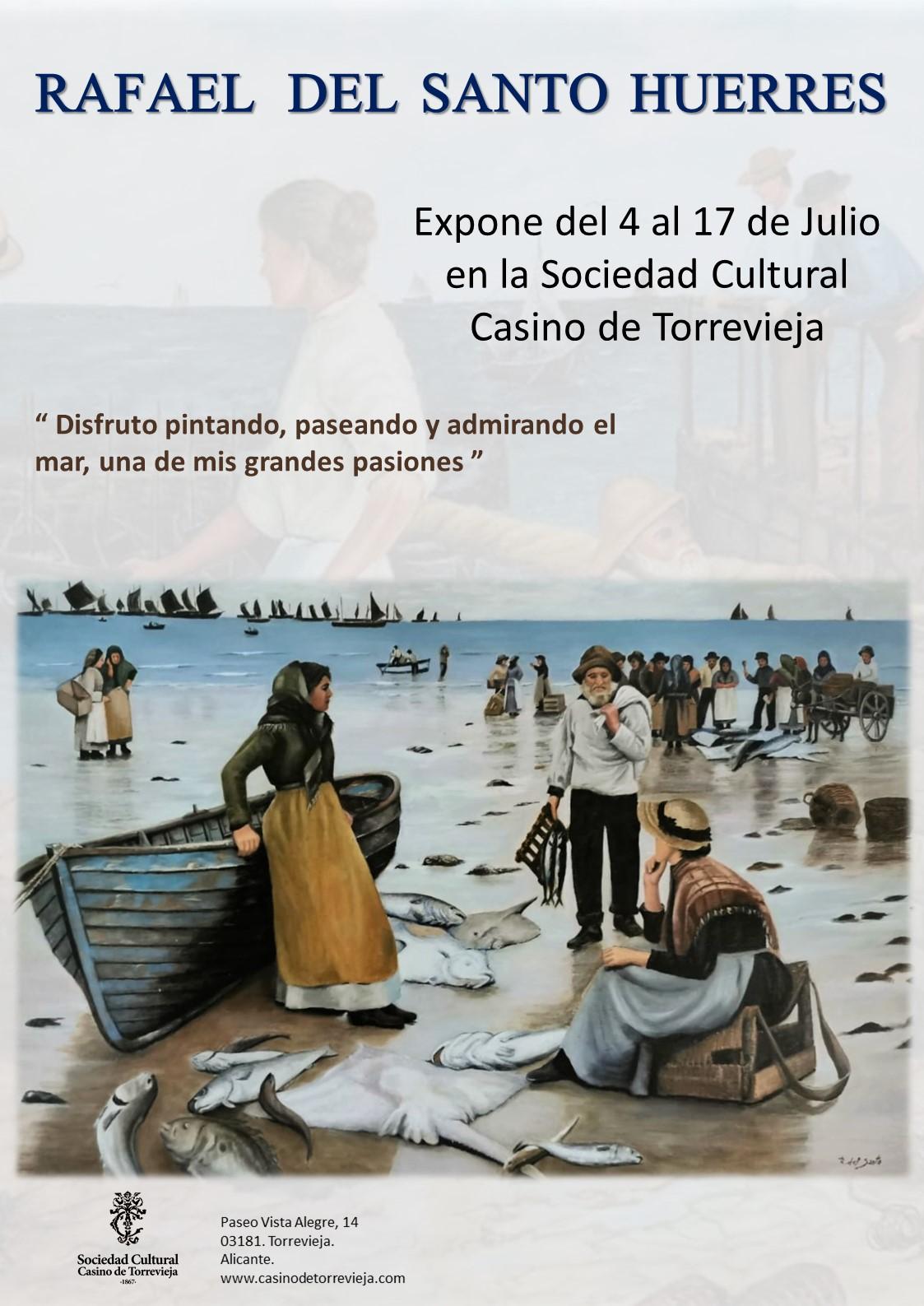 Rafael del Santo Huerresin taidenäyttely Torreviejan kasinolla