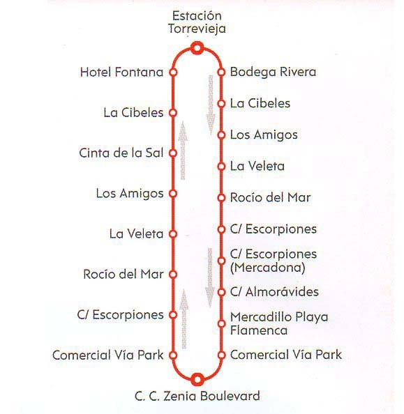 Autobus-de-Torrevieja-al-centro-comercial-Zenia-Boulevard-Bus