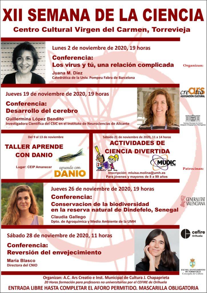 XII Semana de la Ciencia Torrevieja com Centro cultural virgen del carmen