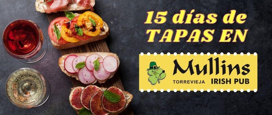15 días de tapas en J. Mullins Irish Pub Torrevieja.com