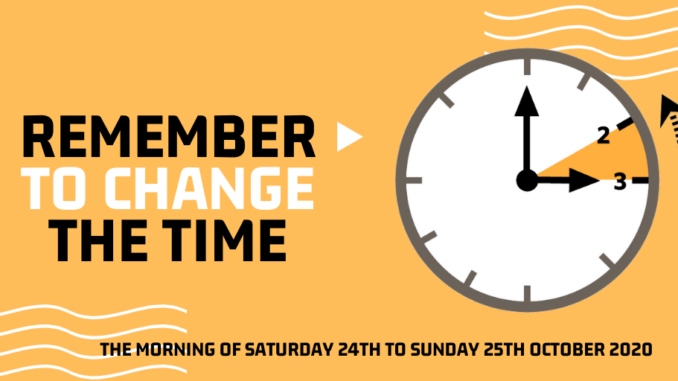 Time to change your clocks