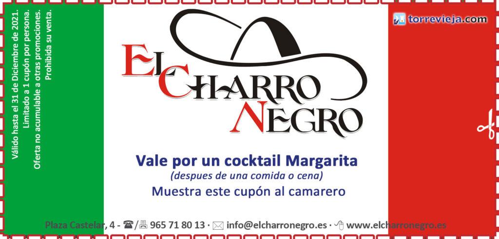 cupon descuento restaurante mexicano el Charro negro de Torrevieja cocktail margarita