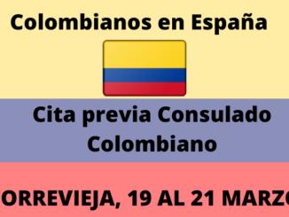colombianos en españa cita previa consulado Torrevieja