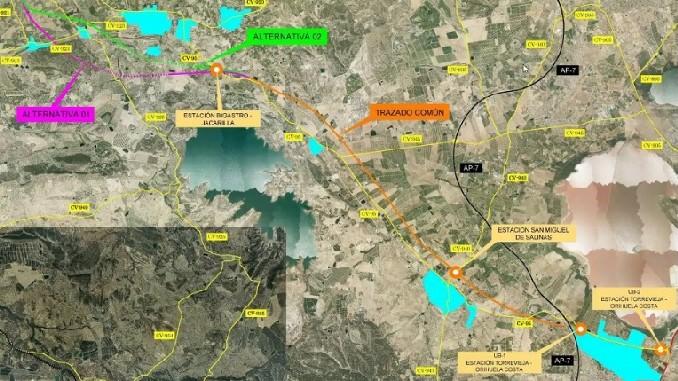 proyecto tren Orihuela Torrevieja