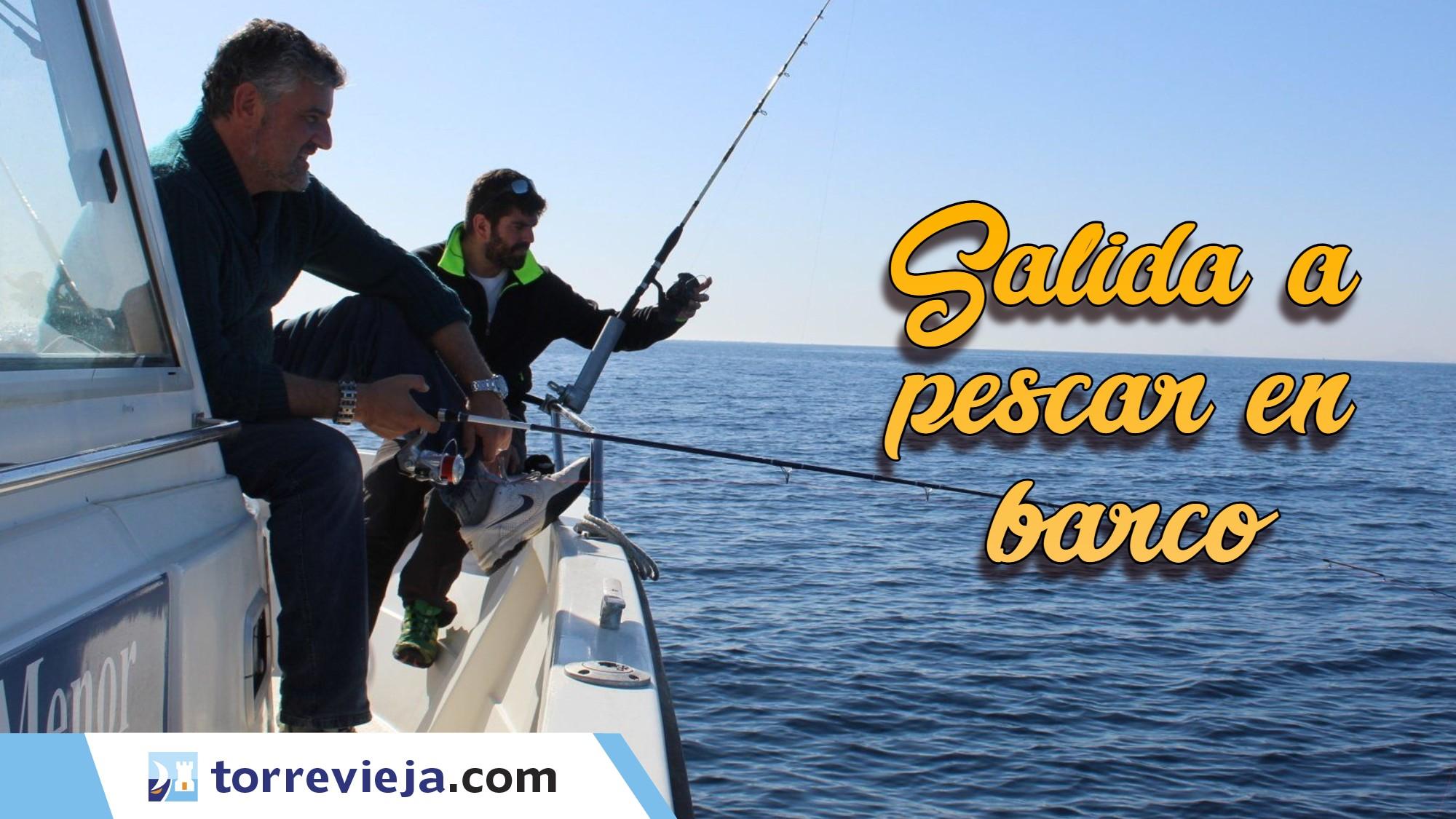Salida a pescar en barco charter Torrevieja 1