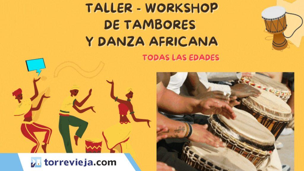 мастер-класс по перкуссии и африканским танцам в Торревьехе