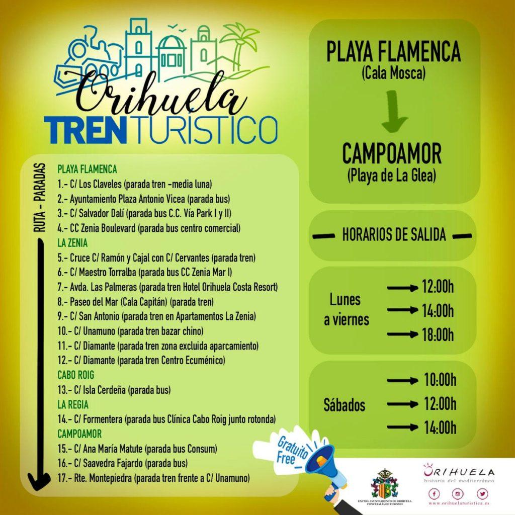 train touristique Orihuela Costa
