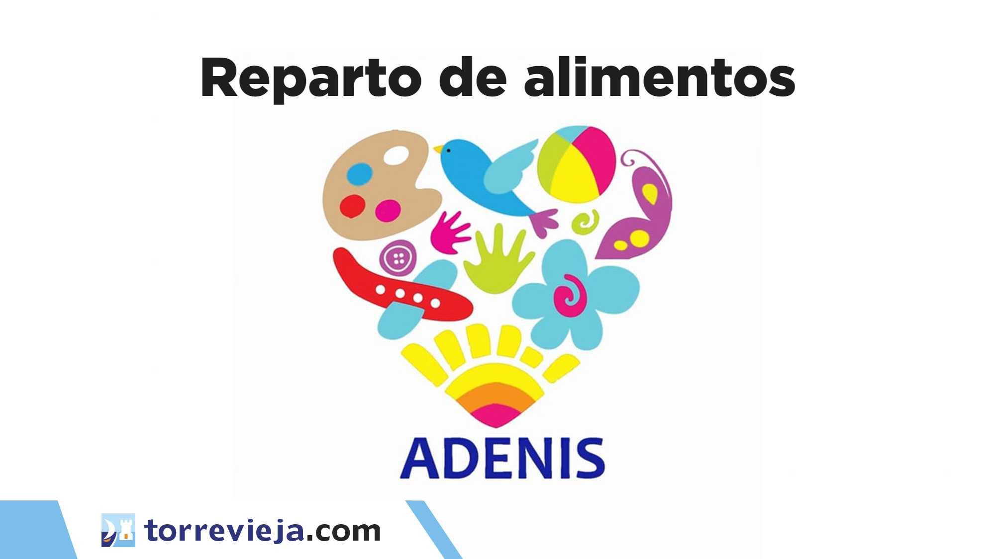 Reparto solidario de alimentos ADENIS asociación Torrevieja